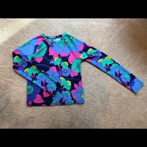 GAP Floral Rashguard/ Swimsuit Girls size XXL